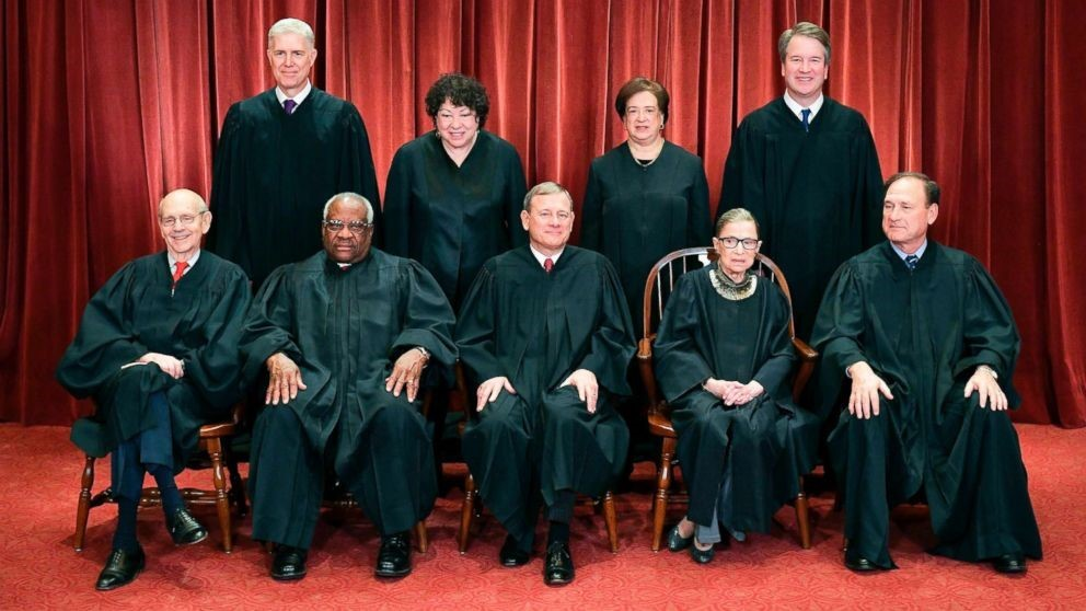 All nine Supreme Court Justices who swore in Steve Potash and family