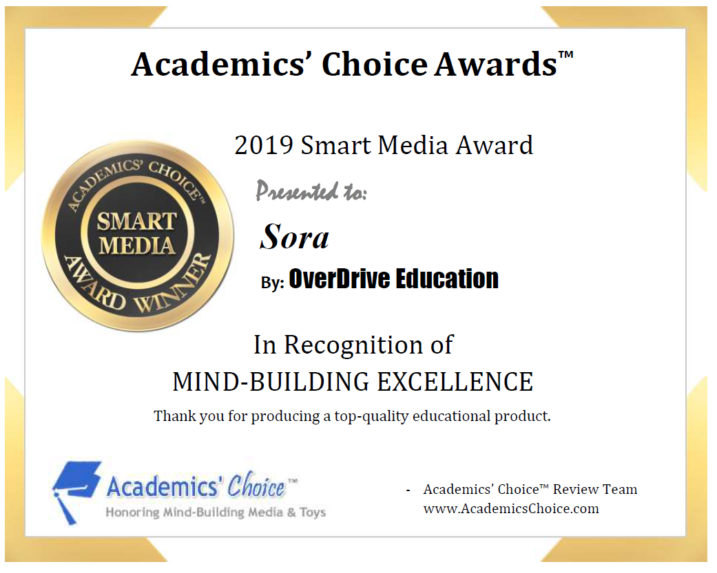 Academics' Choice Awards Certificate