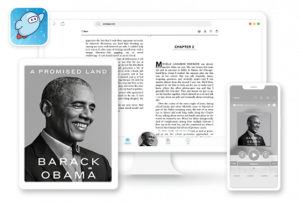 device collage - a promised land in the sora reading app