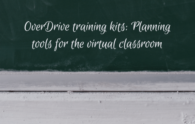 overdrive training kits text on chalkboard