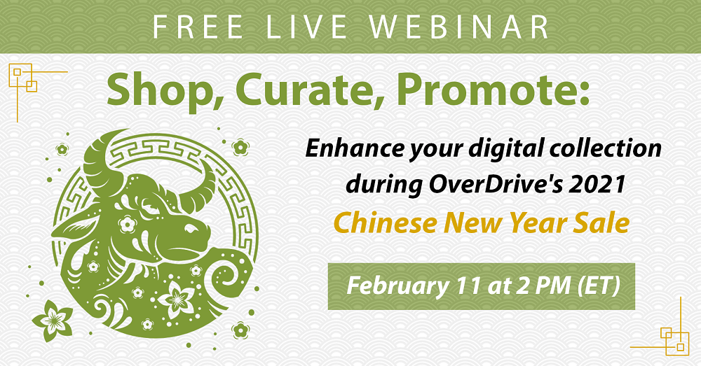 chinese new year sale webinar ox and text on background