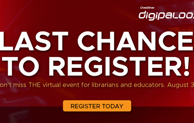 last chance to register for Digipalooza 21 white text on red background header image
