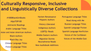 culturally responsive, inclusive and linguistically diverse collections text slide