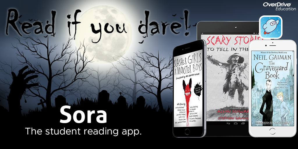 sora read if you dare spooky title collage on devices